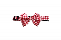 Mutt Of Course Checkmate Bow Tie Red - Small