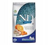 Farmina N&D Dry Dog Food Ocean Codfish and Orange Adult Mini Breed - 2.5 Kg