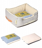 Touchdog Original Denim Classical Rectangular And Reversible Dog Bed- Medium