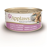 Applaws Cat Can Food Mackerel with Sardine -70 gm (24 cans)