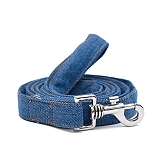 Mutt Of Course Stud Muffin Dark Denim Leash - Medium