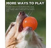 Outward Hound Bionic Opaque Ball Orange - Small