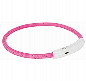 Trixie USB Flash Light Ring Collar Pink - Medium & Large
