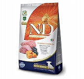 Farmina N&D Dry Dog Food Grain Free Pumpkin Lamb & Blueberry Puppy Mini Breed- 800 gm (Pack Of 10)