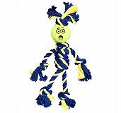 Petsport Braided Rope Rasta Man with Tennis Ball - Small
