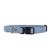 Mutt Of Course Stud Muffin Light Denim Collar - Medium