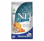 Farmina N&D Dry Dog Food Grain Free Ocean Pumpkin COD Fish & Orange Adult Medium & Maxi - 2.5 Kg