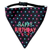 LANA Paws Happy Birthday Adjustable Bandana -Medium & Large