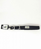 Ezra Single Thick Reflective 19 mm Dog Collar - Black