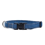 Mutt Of Course Stud Muffin Dark Denim Collar - Large