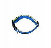Basil Padded Dog Collar Blue- Medium