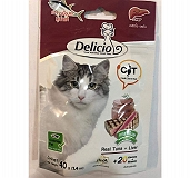 Goodies Delicio Real tuna + Liver with DHA + 20 Vitamins and Minerals Dog Treat - 40 gm
