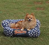 Touchdog Lazy-Bones Rabbit-Spotted Premium Couch Dog Bed - Medium