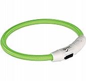 Trixie USB Flash Light Ring Collar Green - Xsmall & Small