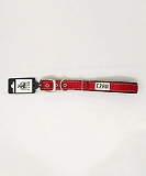 Ezra Single Thick Reflective 19 mm Dog Collar - Red