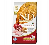 Farmina N&D Dry Dog Food Chicken & Pomegranate Adult Light Medium & Maxi Breed - 2.5 Kg (Pack Of 4)