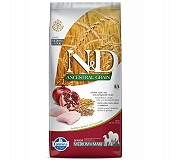 Farmina N&D Dry Dog Food Ancestral Grain Chicken & Pomegranate Senior Medium & Maxi Breed - 2.5 Kg