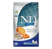 Farmina N&D Dry Dog Food Grain Free Ocean Pumpkin COD Fish & Orange Adult Mini - 2.5 Kg