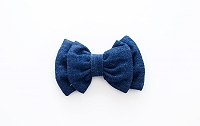 Mutt of Course Dark Denim Bow Tie- Large