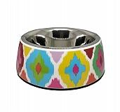 Basil Malamine Bowl Ikat Print - Medium