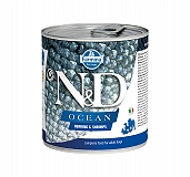 Farmina N&D Wet Dog Food Grain Free Ocean Herring & Shrimp Adult - 285 gm (6 Cans)