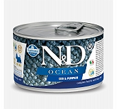 Farmina N&D Wet Dog Food Ocean Codfish & Pumpkin  Mini Adult - 140 gm (Pack Of 6)