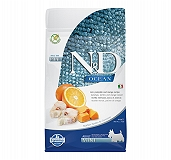 Farmina N&D Dry Dog Food Grain Free Ocean Pumpkin COD Fish & Orange Adult Mini - 800 gm