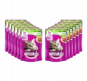 Whiskas Lamb in Jelly Pouch - 85 gm (Pack of 12)