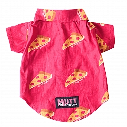 Mutt of Course Pupperoni Pizza Shirt for Dogs- Large