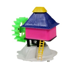 FishSpot Aquarium House with Wheel Toy