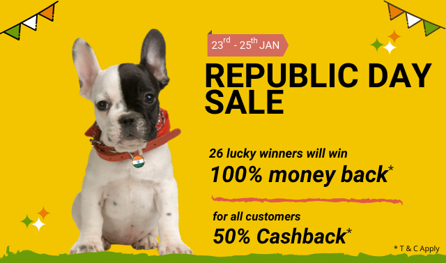 Special Republic Day Sale 🐶..