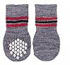 Trixie Dog Socks Non-slip Grey Large & Xlarge - 2 Pieces
