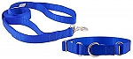 DogSpot Nylon Leash & Collar Set Blue- Medium