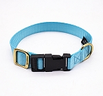 Forfurs Adjustable Classic Dog Collar Cocktail Blue - Medium