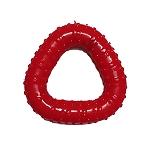 DogSpot Rubber Paw Print Triangular Chew Toy