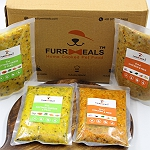 FurrMeals Large Furry Weekly Chicken & Veg Plan (Herbed Chicken & Rice  + Fresh Cottage Cheese & Peas) - 400 gm (Pack of 14)