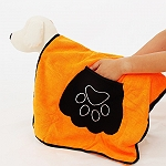 DogSpot Ultra Absorbent Microfiber Pet Towel - Orange  - (LxW- 32 x 19) Inches