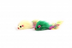 PetSpot Plush Mouse With Feather Tail Cat Toy