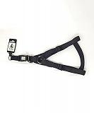 Ezra Double Thick 25 mm Dog Harness - Black