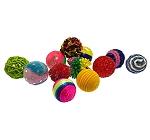 Petsport Kitty Fun Balls Assorted - 5 cm