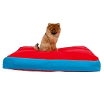 DogSpot Rectangular Bed Red & Blue - Small - (LxBxH - 34.5x27x4.5) Inches