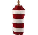 Mutt Of Course Dog Sweater Red & White - Small