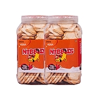 Nibbles Carrot & Milk Dog Biscuit - 1 kg (Pack Of 2)
