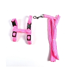 CatSpot Nylon Braided Cat Harness - Pink