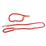 DogSpot British Style Braided Rope Slip Lead Red - Large