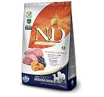 Farmina N&D Dry Dog Food Grain Free Pumpkin Lamb & Blueberry Adult Medium & Maxi Breed- 2.5 Kg