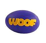 DogSpot Squeaky Vinyl Woof Football Toy