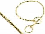 Snake Choker Golden Dog Choke Chain Medium - 22 Inches