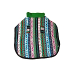 DogSpot Stripe Twist Pistachio Green Flannel Dog Coat Size - 20