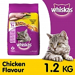 Whiskas Chicken Flavour Cat Food - 1.2 Kg